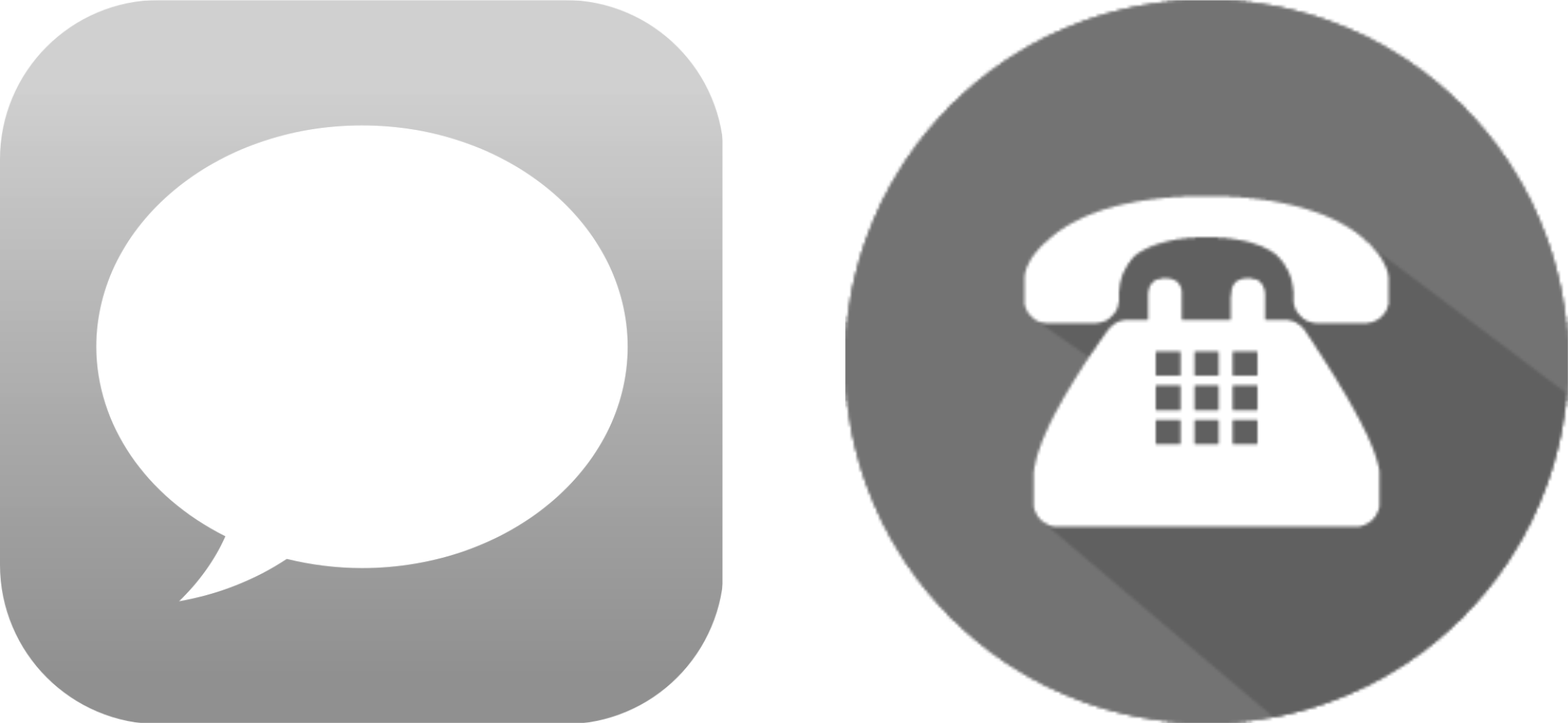 grey- phone-icons